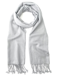 Light Grey Pashmina Wrap