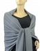 Grey Pashmina Wrap 2Ply