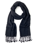 Black Pashmina Wrap 2 Ply