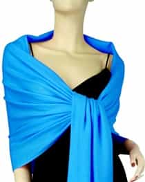 Peacock Blue Pashmina Wrap