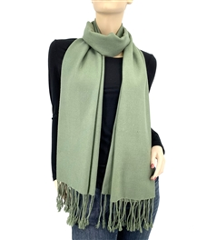 Dark Sage Green Ring Pashmina