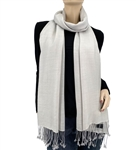 Light Grey Ring Pashmina