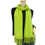 Lime Green Ring Pashmina