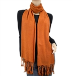 Burnt Orange Ring Pashmina