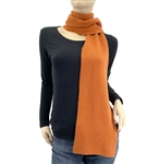 Burnt Orange Cashmere Scarf