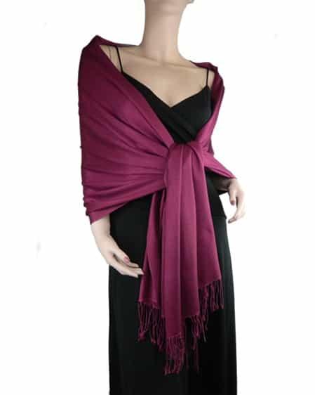 780a5bd4b0d Pashmina/Silk Shawl Burgundy