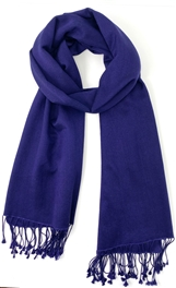Pashmina Shawl Midnight Blue