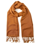Pashmina/Silk Shawl Burnt Orange