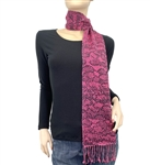 Hot Pink Python Animal Print Pashmina