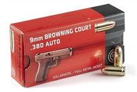 .380 Auto Ammo 50 Rounds 95 gr FMJ 380 Ammunition Geco Browning