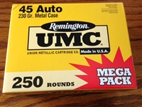Remington UMC 45 ACP 250 Round Mega Pack