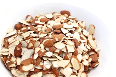 ORGANIC NATURAL SLICED ALMONDS- Bulk 20 lbs.