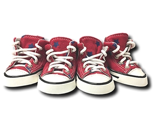 denim red stars converse