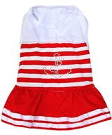 anchor bling dress red