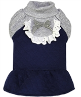 Quilted Winter Dress Blue