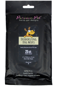 Parisian Pet Deodorizing Wipes 25 Pack