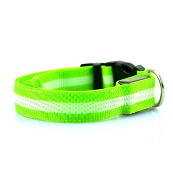led collar green
