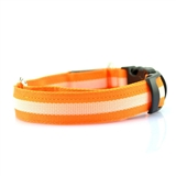 led collar orange