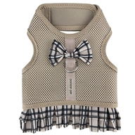Harness Dress Khaki Plaid