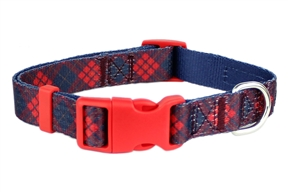 Scottish Plaid Collar Red