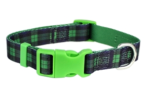 Scottish Plaid Collar Green