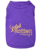 spoiled rotten dog shirt