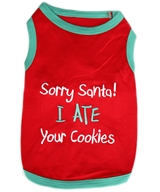 santa cookies dog shirt