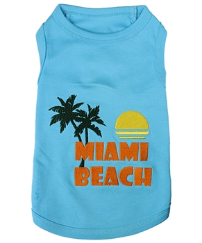 miami beach dog shirt