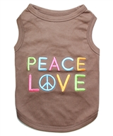 peace love dog shirt