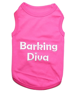 barking diva dog shirt