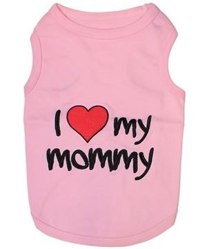 I love my mommy pink dog shirt