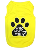 who saved who dog shirt