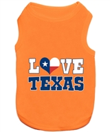 love texas dog shirt
