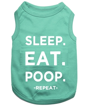sleep eat poop dog shirt