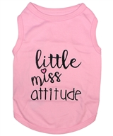 little miss attitude dog shirt