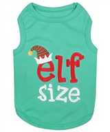 Elf Size dog shirt