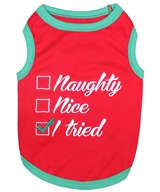 Naughty or Nice dog shirt