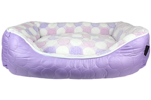 cotton candy purple bed