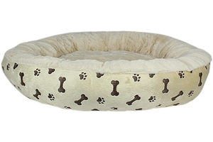 paw prints khaki bed