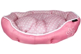 polka dot pink bed