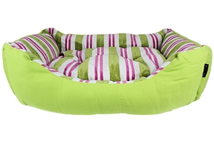 canvas striped green bed