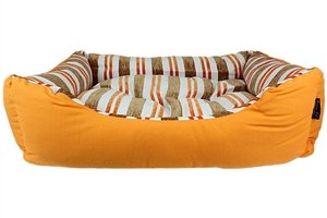 canvas striped orange bed