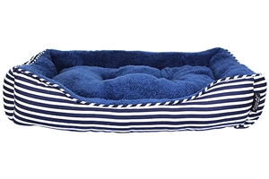 ahoy striped bed blue