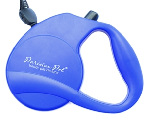 blue retractable leash