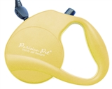 yellow retractable leash