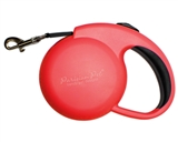 mini red retractable leash