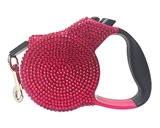 retractable leash dark pink