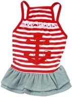anchor dress red