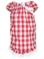 tunic country dress red