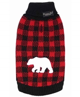 Buffalo Checkered Sweater Polar Bear